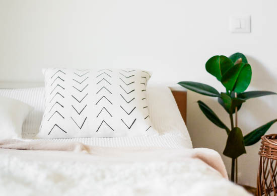 DIY Mudcloth cushion