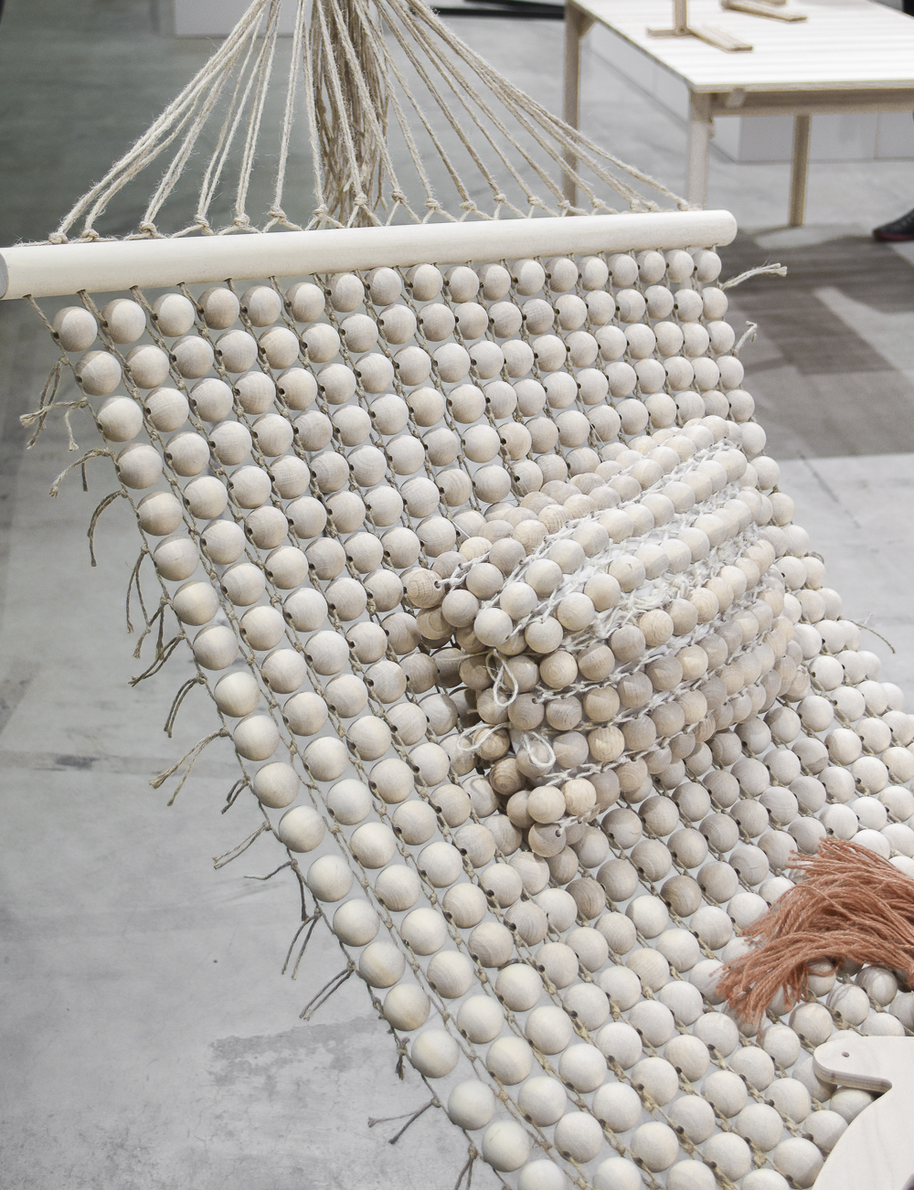 Eco hammock, made of wooden beads