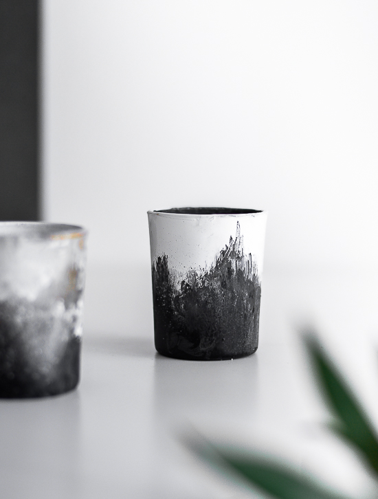 DIY Hand brushed cup ceramics