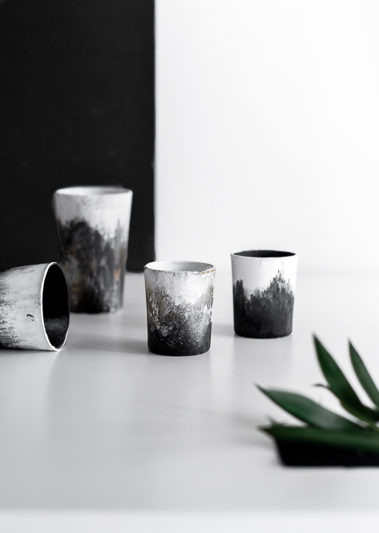 DIY Hand brushed cup set