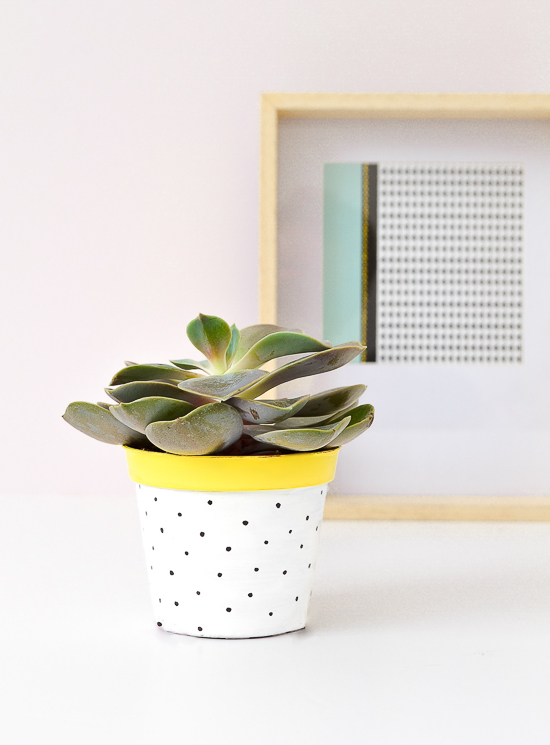 DIY painted flower pot - passionshake.com (1 of 1)