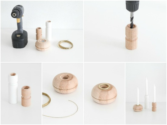 PASSIONSHAKE - DIY Set of Wood Candle Holders -4
