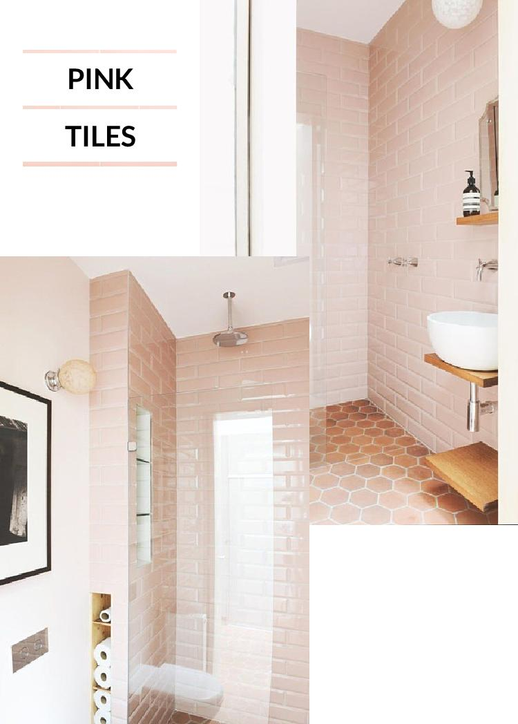 4 Ways To Get A Pink, Modern Bathroom Look Part 81