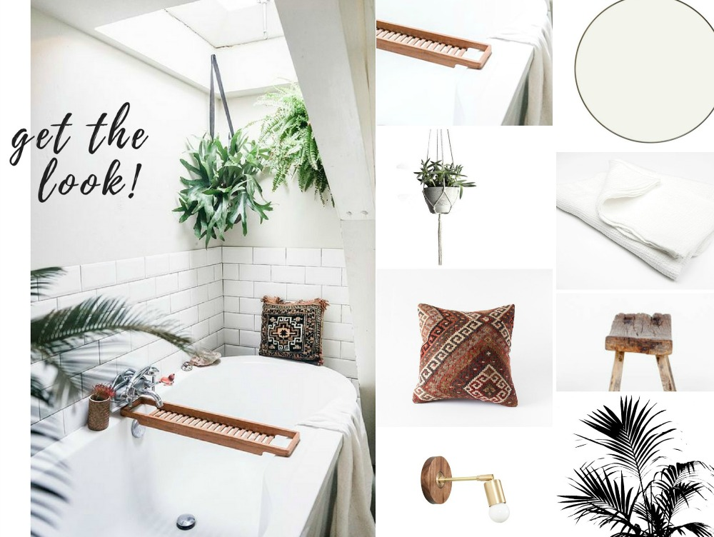 Get the look: Boho Bathroom