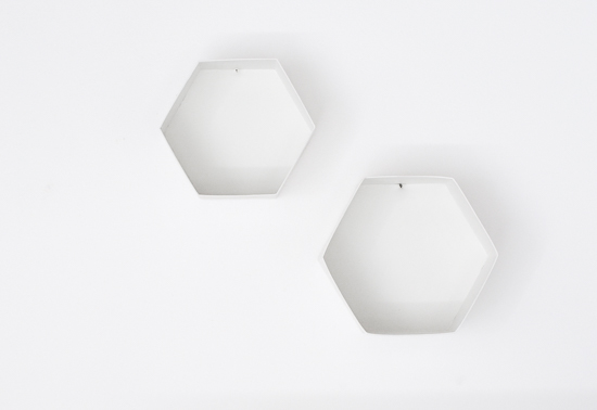 The easiest way to make DIY Hexagon Wall Shelf 2