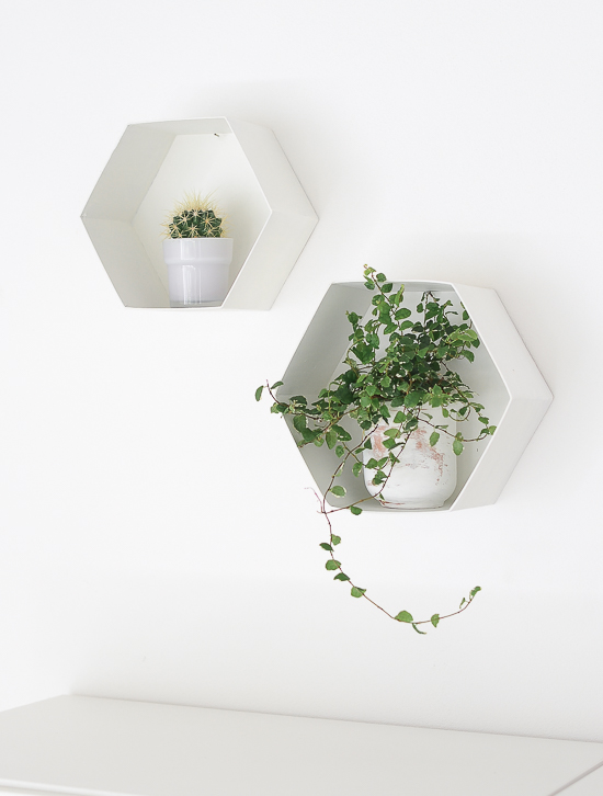 The easiest way to make DIY Hexagon Wall Shelf 4