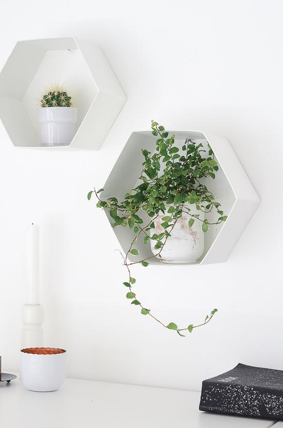 The easiest way to make DIY Hexagon Wall Shelf 5