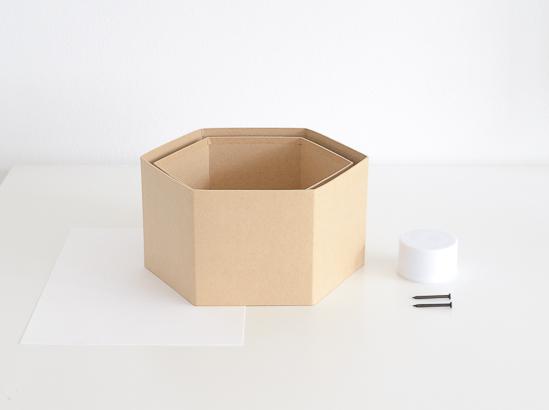 The easiest way to make DIY Hexagon Wall Shelf 6