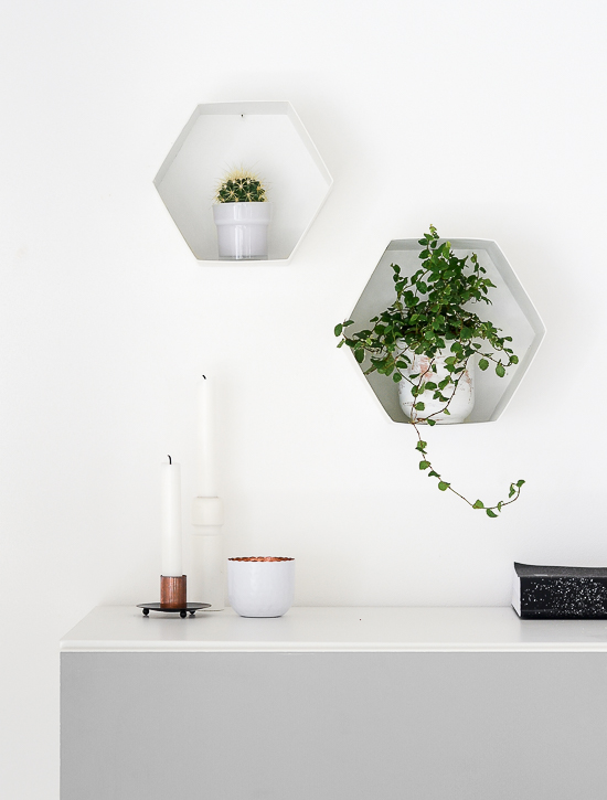 The easiest way to make DIY Hexagon Wall Shelf 7