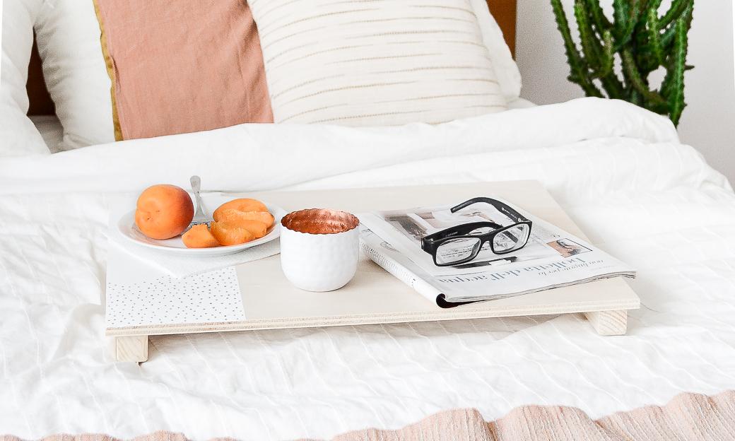 DIY bed tray