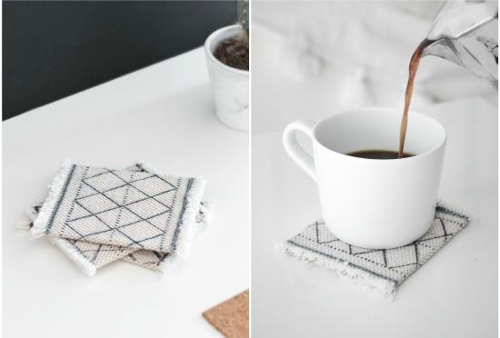 moroccan fabric coasters
