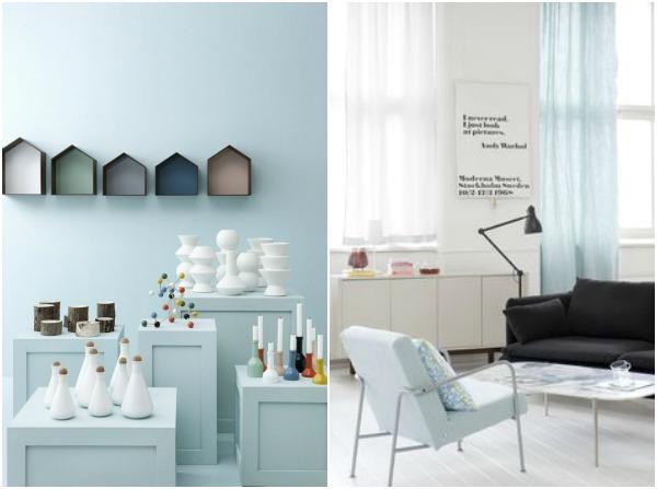 elegant light blue and black