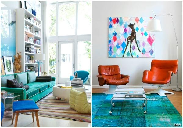 turquoise, light blue, indigo home decor