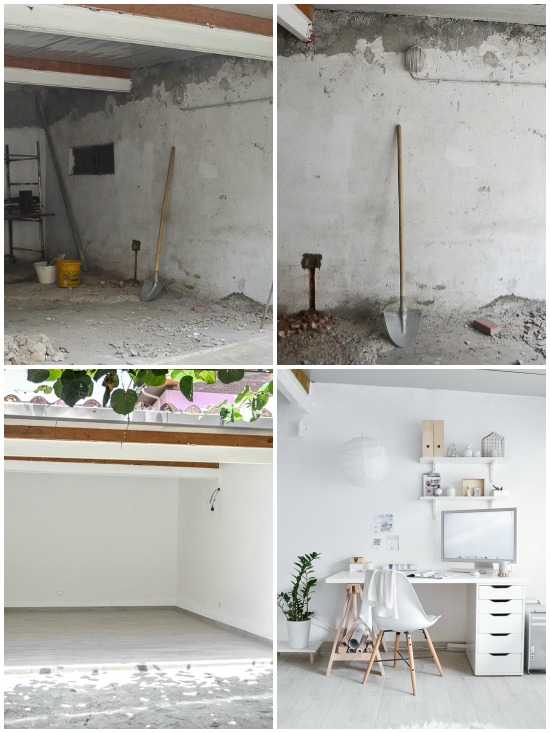workspace before and after