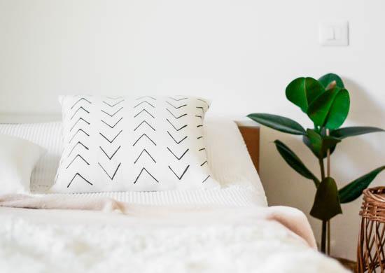 DIY Mudcloth cushion