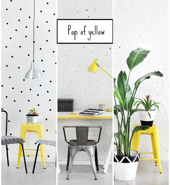 Pop of yellow + 3 DIY ideas
