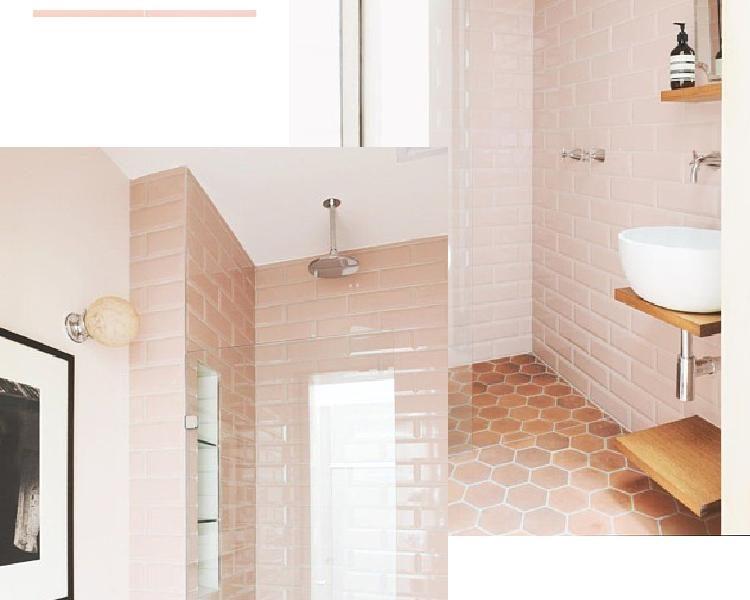 4 ways to get a pink modern bathroom look