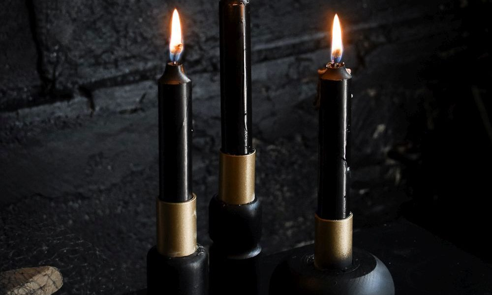 halloween series diy candle holders - Diy Candle Holders