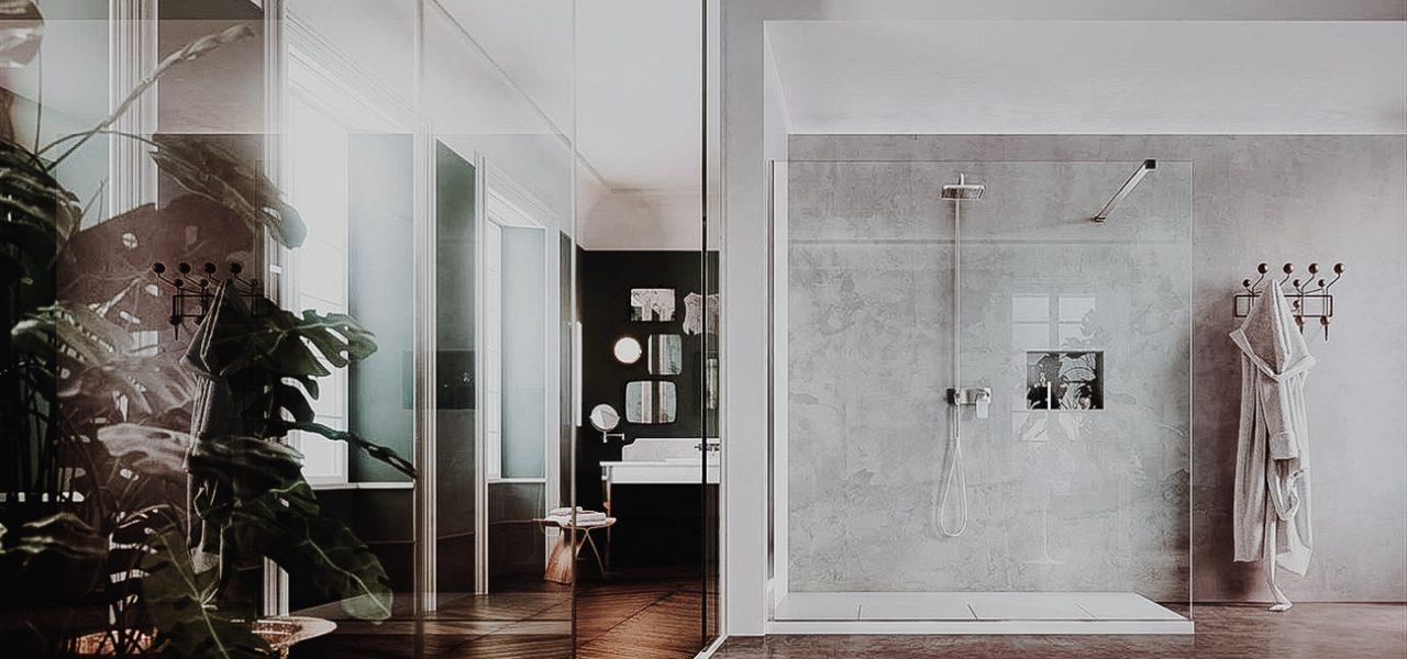 Trend Alert: The concept of 'open', walk-in showers