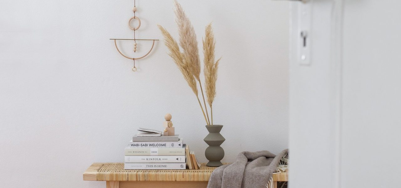 DIY Wood and brass wall hanging