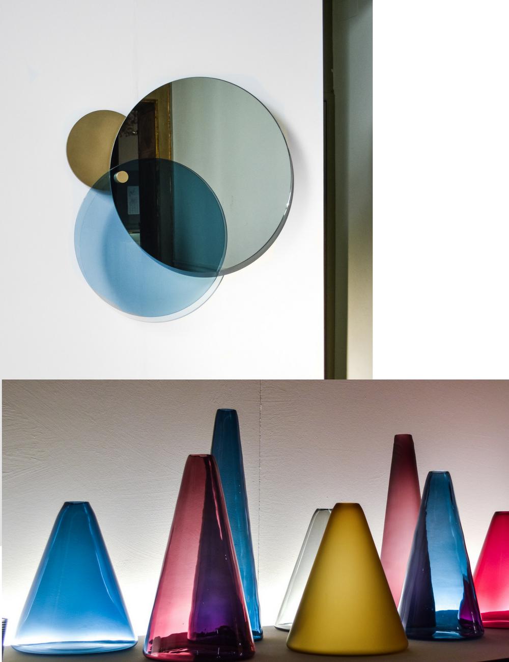 Colored glass - interior Trend 2017