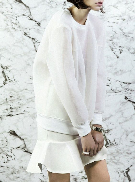 street style - all white
