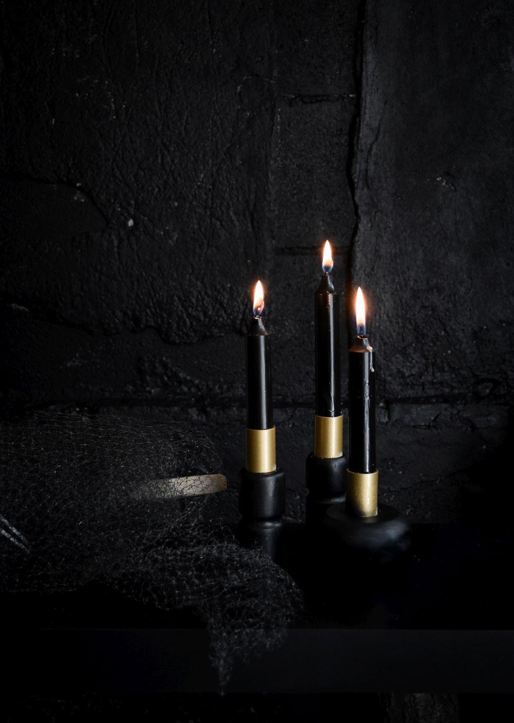 black-halloween-candle-holders