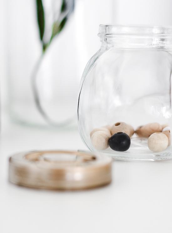 DIY Beaded string decoration jar