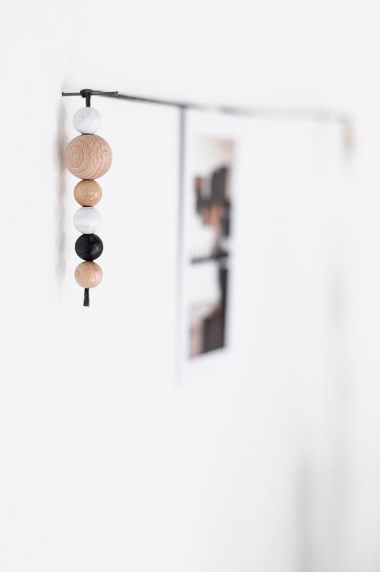 DIY Beaded string decoration_
