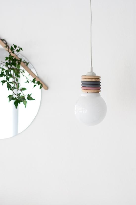 DIY Curtain rings lamp 1