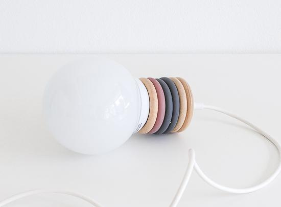 DIY Curtain rings lamp 2