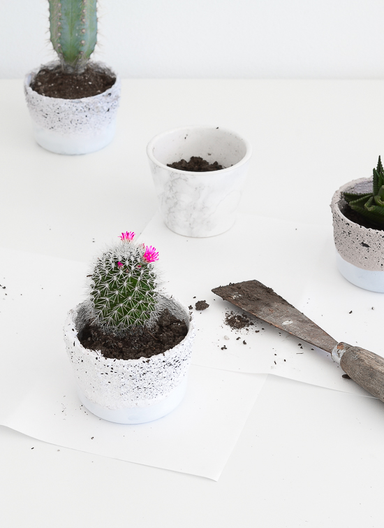 Ikea hack - glass containers into planters 24