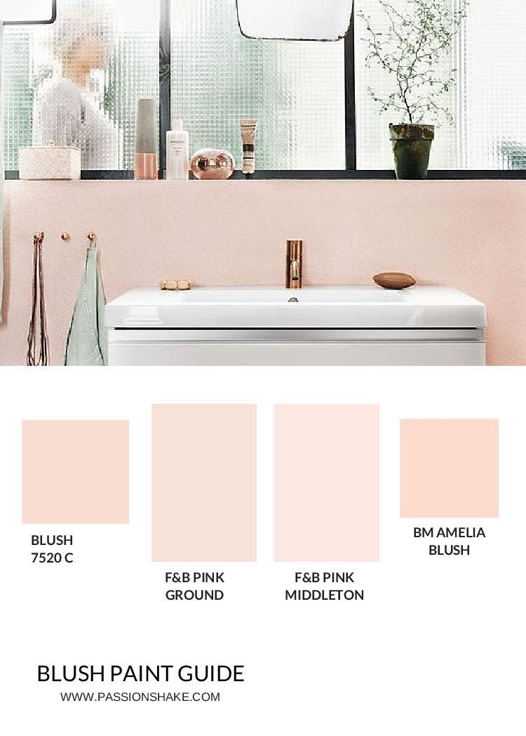 4 Ways To Get A Pink, Modern Bathroom Look