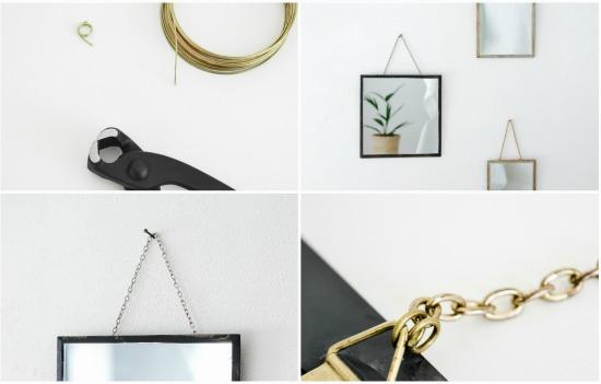 diy hanging mirrors tutorial 2