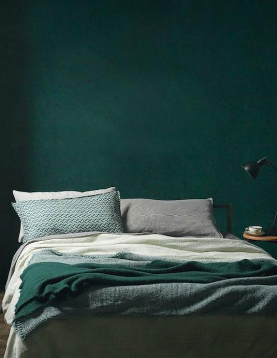forrest green bedroom
