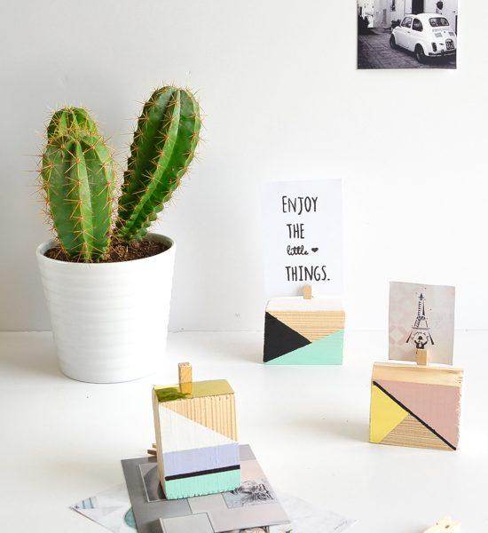 DIY Geometric picture holders