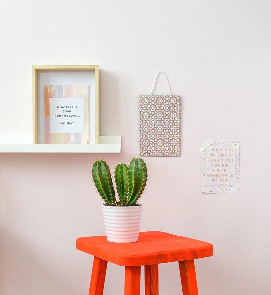 DIY Neon painted stool