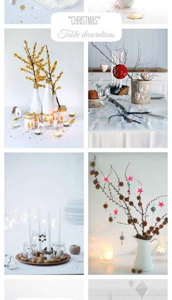 Christmas ideas V – Table decorations