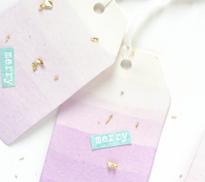 Christmas ideas IV – Ombre gift tags