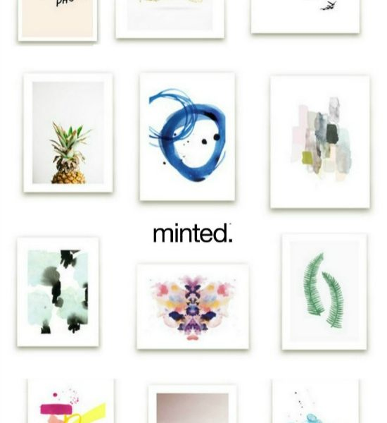 Styling walls with Minted Art prints
