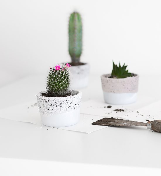 Ikea Hack : Planters out of small, glass containers
