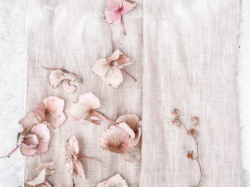 DIY Dyed Textiles in Summer Tones