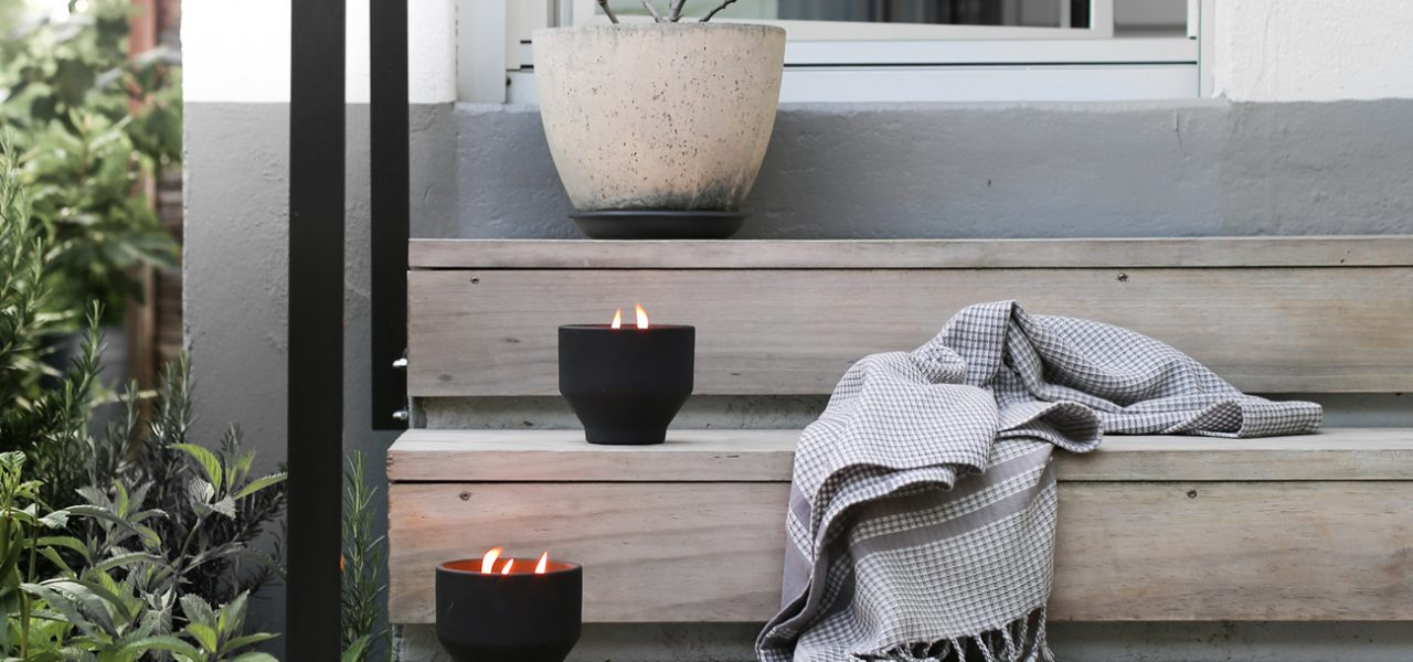 DIY outdoor candles: stay mosquito free the stylish way