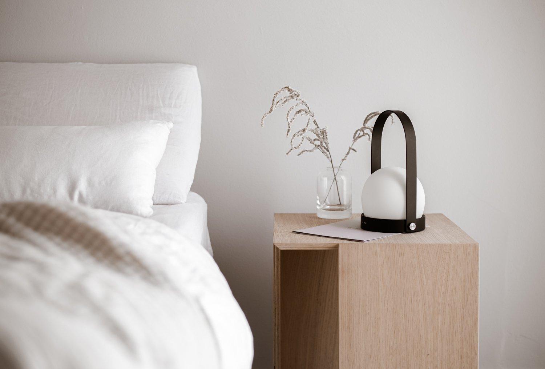 minimal, oak nightstand